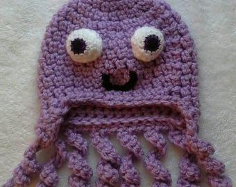 Octavia the 8 legged warm, snuggy hat perfect for your toddler.