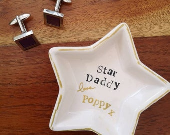 Personnalisé New Baby Daddy 1st Premier Noël Anniversaire Cadeau Boutons de manchette