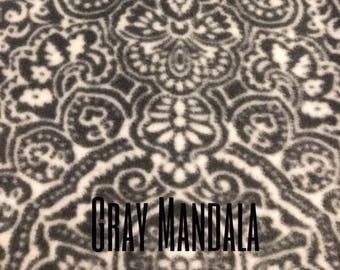 Gray Mandala Snood for Great Dane/Giant Breed Dog