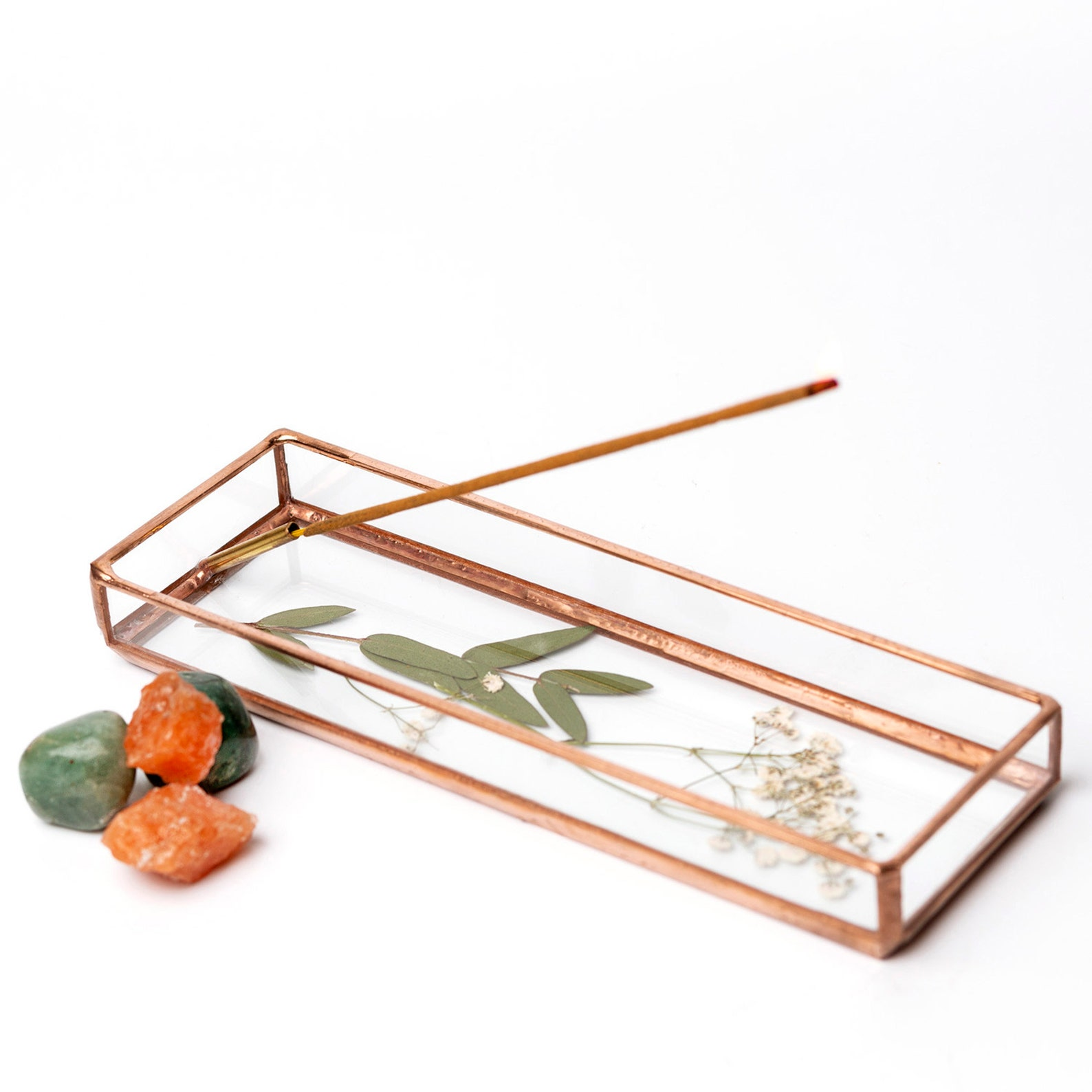 stained-glass incense holder