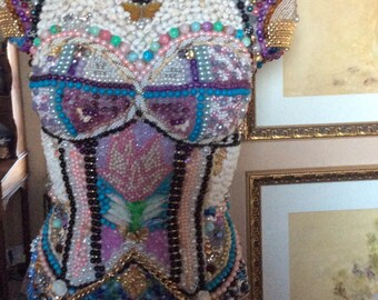 Mannequin Dress Form jewelry beads art form