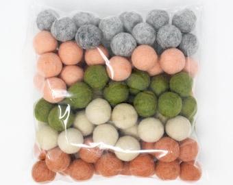 Arizona Palette Felt Balls | Wool Felt Pompoms Wholesale | DIY Felt Ball Garland | Desert Palette Wool Felt Balls | Choose Color Quantity