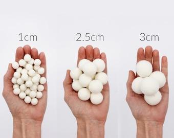 Felt Pom Poms 3 Sizes | 1cm 2.5cm 3cm Wool Felt Pompoms Wholesale | DIY Felt Ball Garland | Wool Felt Balls | Choose Color Size Quantity
