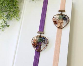 Colorful Stone Copper Tree Artmark