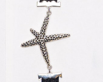 Silver Starfish bookmark