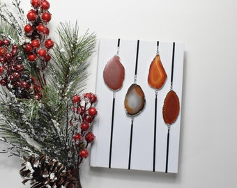 Red/Orange Geode Slice Artmark