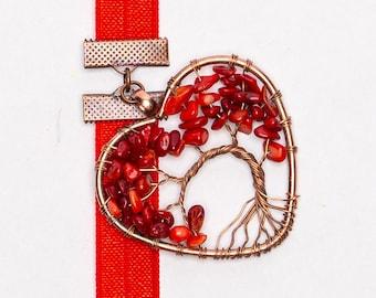 Red Coral Heart Tree Artmark