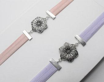 Silver Flower Connector Artmark