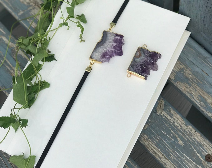 Featured listing image: Large Amethyst Connector Bookmark