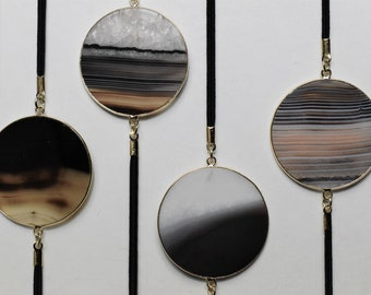Black Lace Geode Slice Artmark