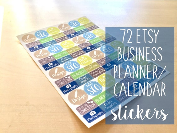 72 etsy business calendar stickers planner stickers business