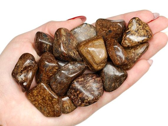 Crystal Healing Gemstone Reiki Tumble 1 Large Bronzite Tumbled Stone