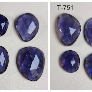 Iolite Cabochon Oval Shape Mix Lot Of 5x7mm 6.5x9mm Gemstone For Jewelry 22 Pieces Natural Iolite Cabochon Gemstones