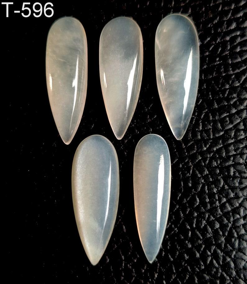 pear shape cabochon jewelry making gemstone WHITE MOONSTONE GEMSTONE