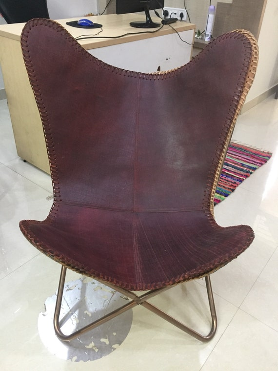Leather Butterfly Chair Seat Cover Bkf