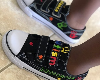 Autism awareness shoes | Etsy