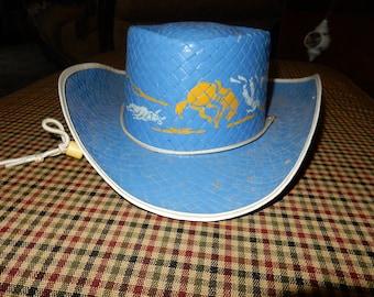 1f723e820eca9 Vintage 1950s Child s Cowboy Hat Straw