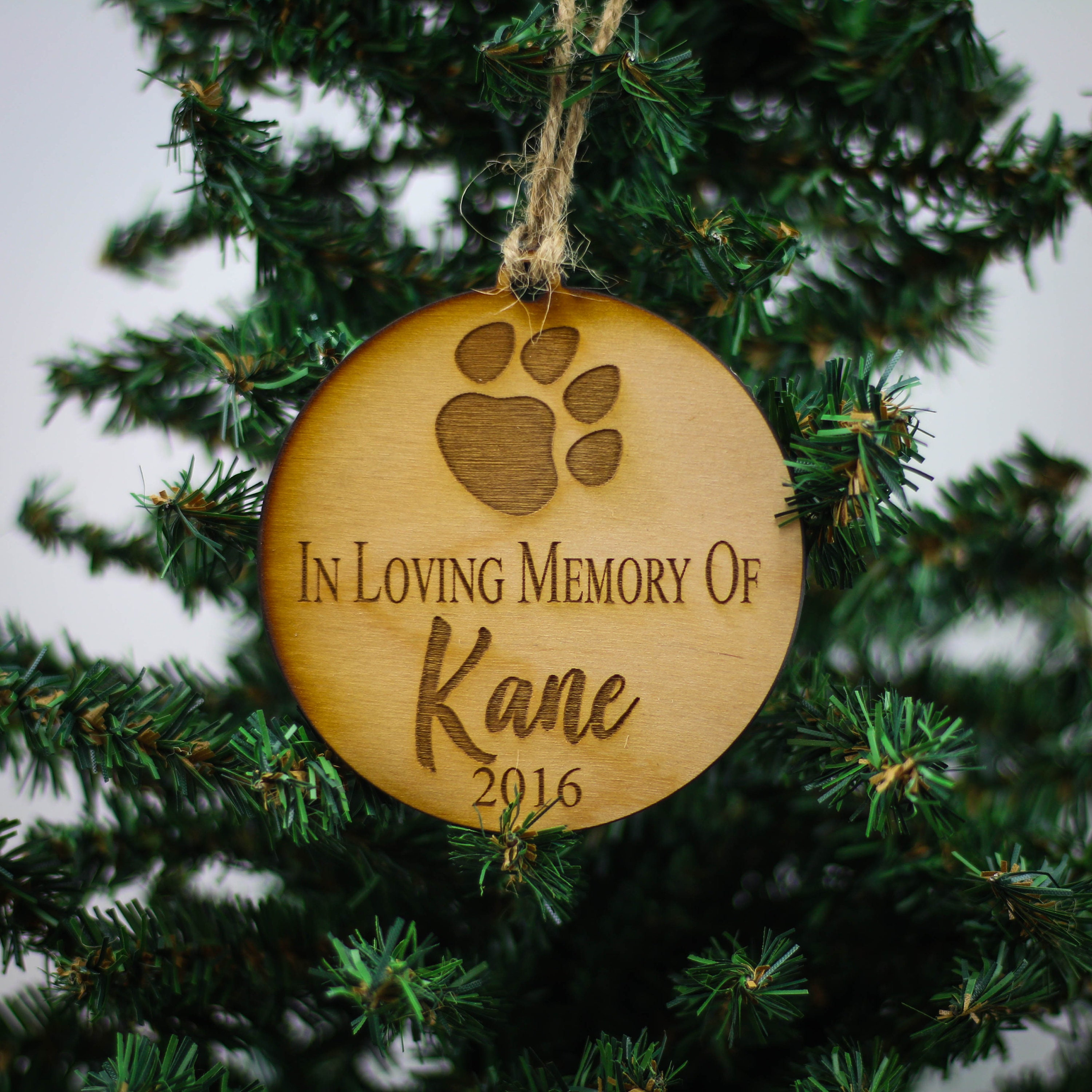 In Loving Memory Ornament Dog Ornament Personalized Etsy