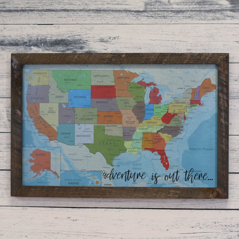 Magnetic Map Of Usa Magnetic Map United States Usa Map And Etsy