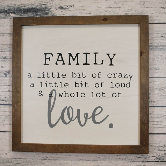 Family Love Quote Wall Art Sign And Living Room Sign 30x30 Etsy