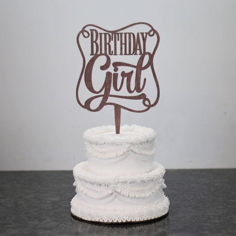 Birthday Girl Cake Topper Kids Rose