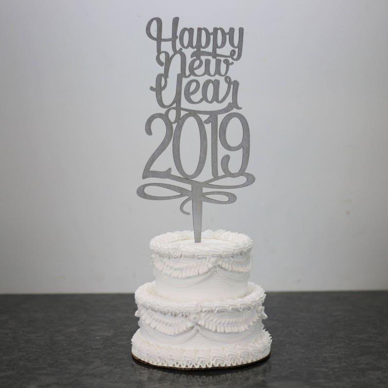 Happy New Year 2019 Parti De Gateau Nouvel An Forme De Etsy