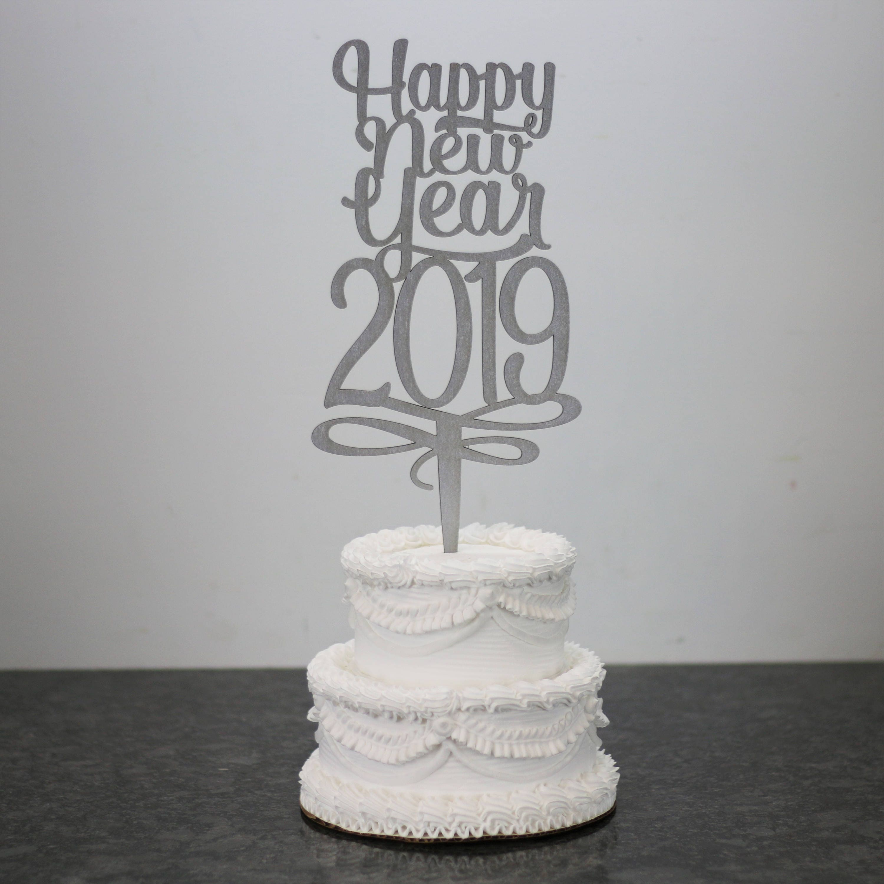 Happy New Year 2019 Party Cake Topper New Years Cake Topper