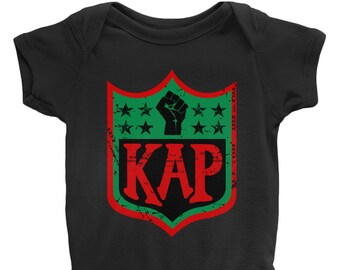2f3fbd8a3 Colin Kaepernick Kap Rbg Nfl Shield Inspired Onesies
