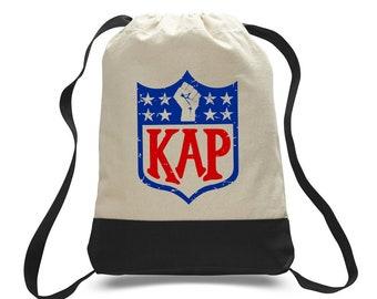 7bc8ead07 Colin Kaepernick Kap NFL shield Inspired Backpack Tote Canvas