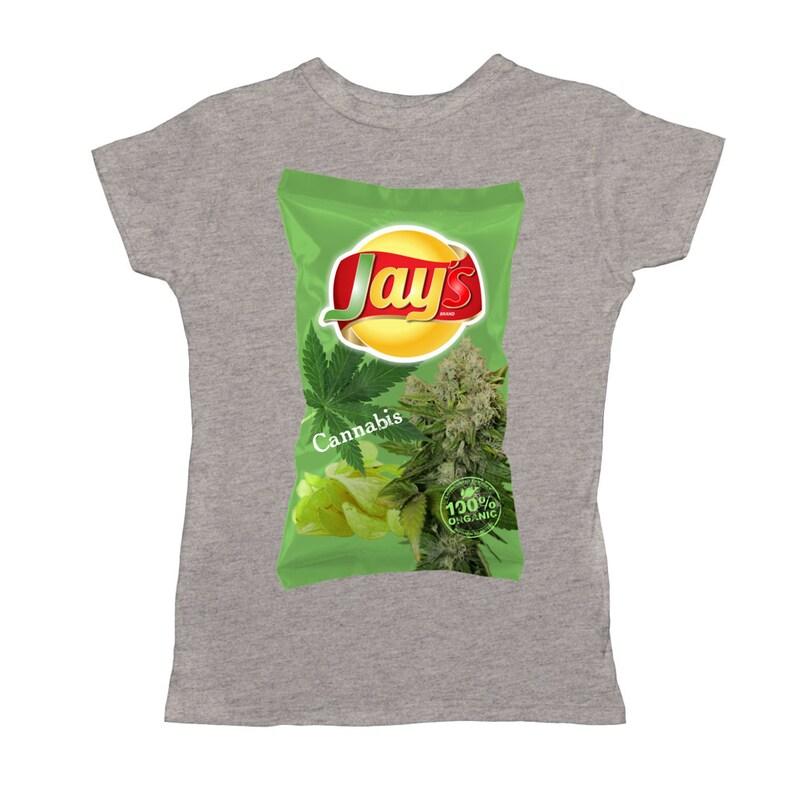 b6709c83c Jay'S Cannabis Chips Women T-Shirt | Etsy