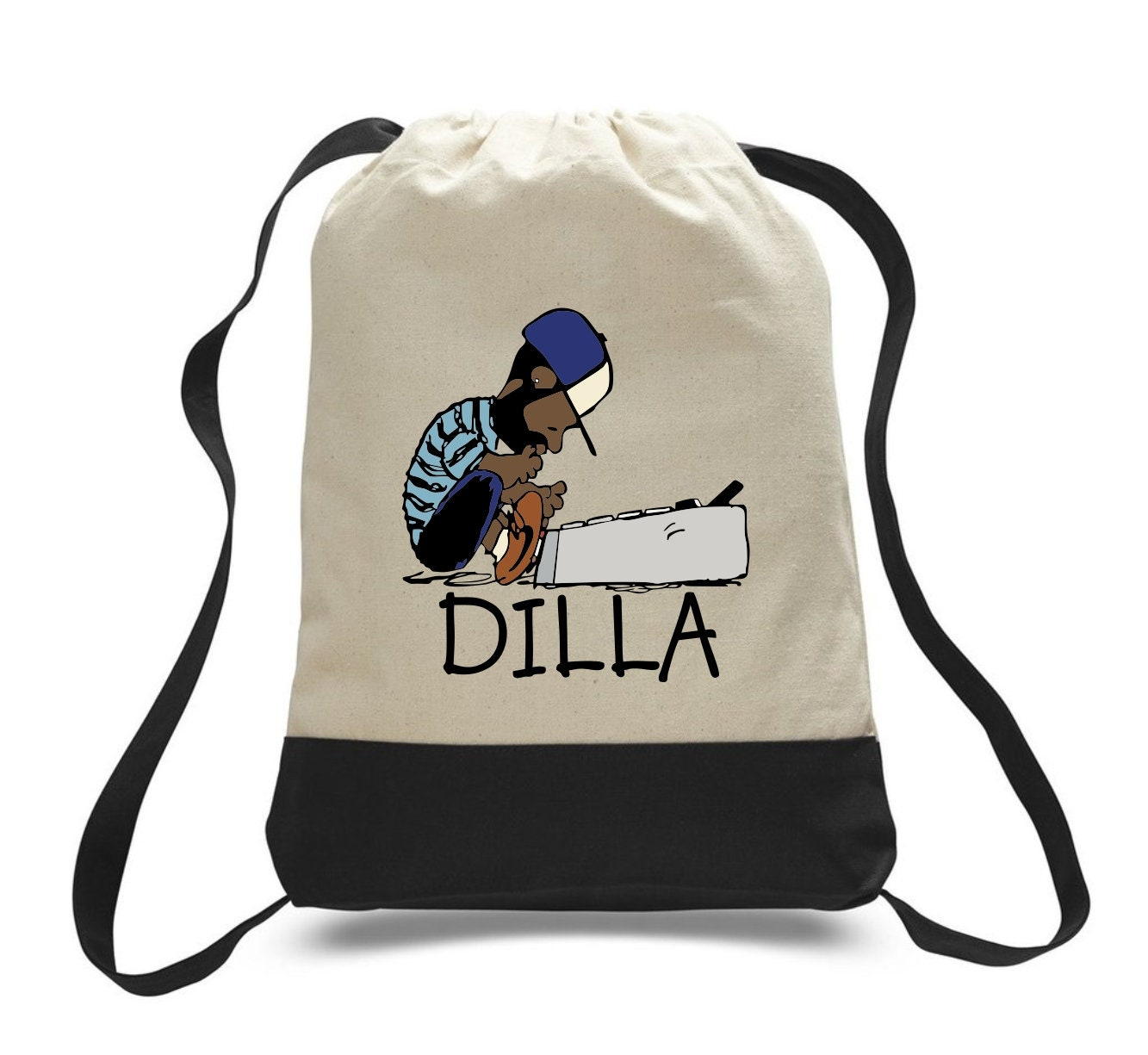 a58a641eee5f J Dilla Custom Peanuts Style Canvas tote Bag Backpack Heavy Duty Super  Producer