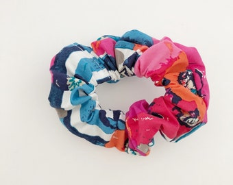 Adult Scrunchie, floral and stripe