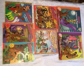 Scooby Doo collection of 7 soft and hard cover childrens books