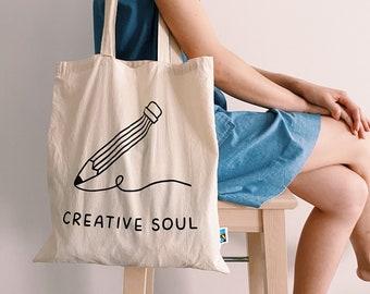 Ouroboros...Screen printed eco cotton tote bag