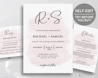 Watercolor invite | Etsy