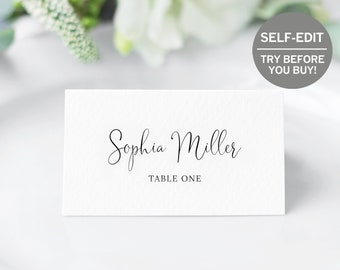 image relating to Printable Place Card Paper known as Printable Area card Etsy