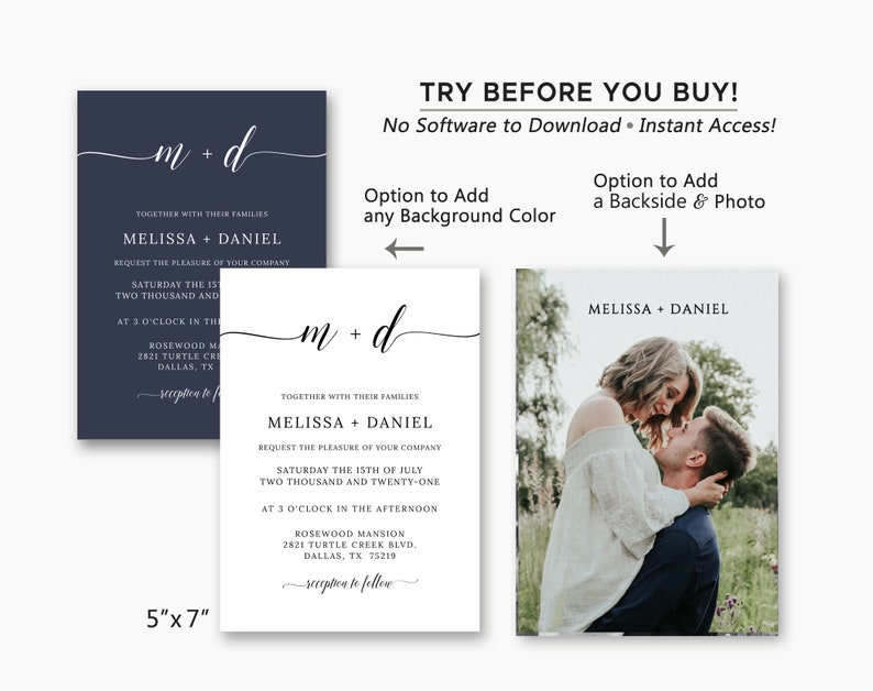 Details Card Minimalist Wedding Invitation Suite Wedding Invitation Template Download Wedding Invites RSVP Card Wedding Set Printable