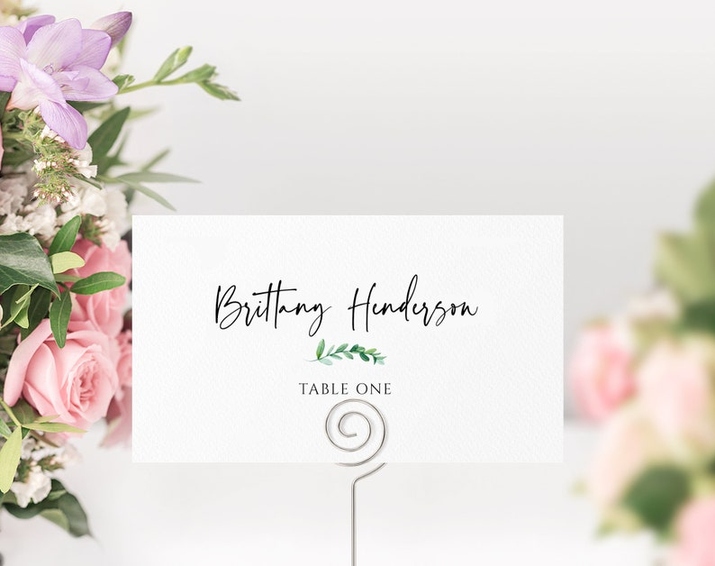 100/% Editable Wedding Placecards Printable Wedding Table Numbers Instant Download Escort Cards Rustic Wedding Place Card Template