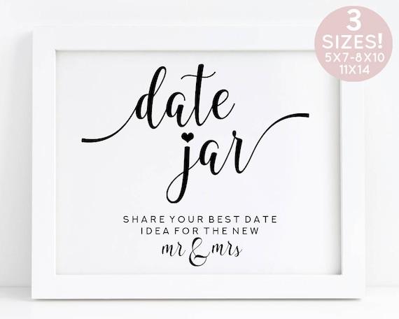 Date Jar Printable Wedding Date Jar Wedding Games Printable Etsy