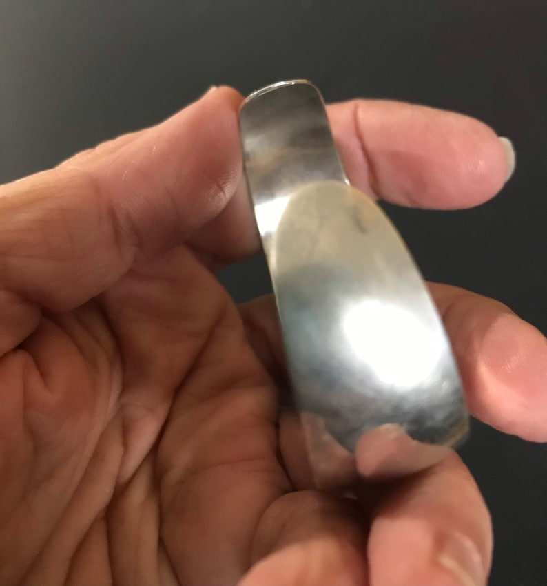 Vintage Silver Engraved Resort Island Cuff Bracelet Plated?