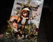 The Witches Bride - Dark Art Diorama - macabre art - creepy decor - horror art - goth style