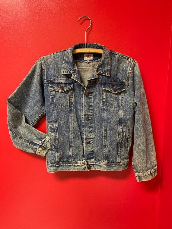 Vintage denim jean jacket 1980's