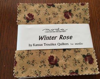 """Moda  Charm Pack  - """"Winter Rose"""""""