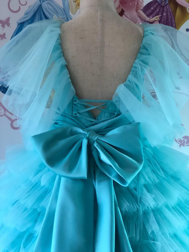 Mint custom pageant girls dress Party Birthday Holiday Wedding girls dress Pageant outfit Fun fashion dress Aqua teal custom high low dress