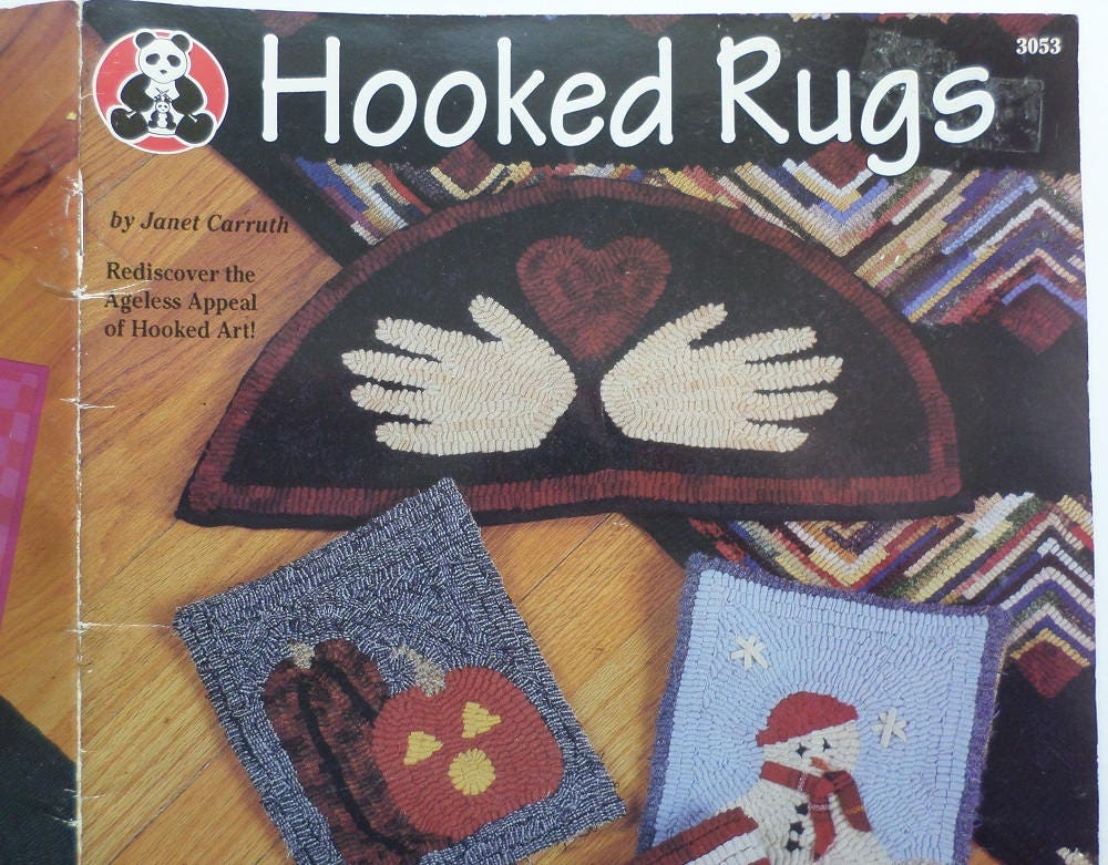 Hooked Rugs How To And Pattern Bookfolk Art Rug Making