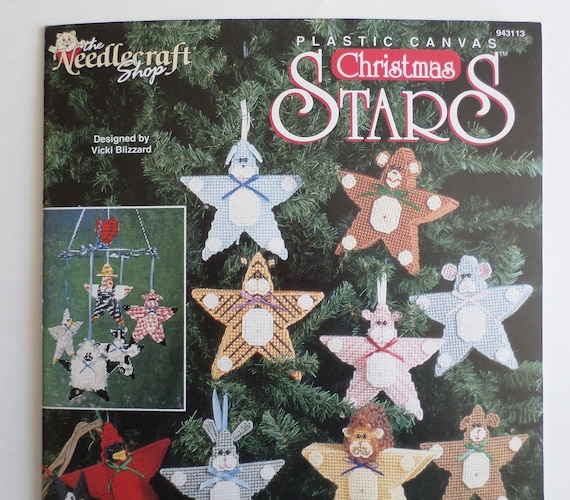 Plastic Canvas Christmas Ornaments.Plastic Canvas Christmas Ornament Pattern And Instruction Book Christmas Stars The Needlecraft Shop