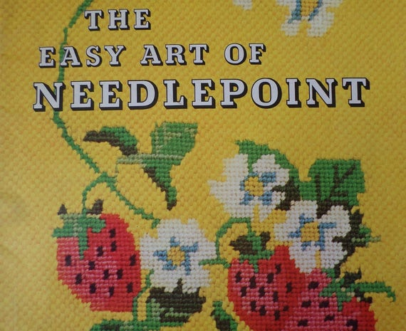 The Easy Art Of Needlepoint Book Needlepoint Patterns Etsy Gorgeous Needlepoint Patterns