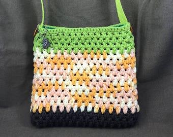 Crochet Bag - Crochet Purse - Crochet Handbag - Cotton Crochet Bag - Pineapple Bag - Cotton Bag - Cotton Purse - Handmade - One of a Kind