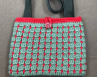 Crochet Bag - Crochet Purse - Crochet Handbag - Cotton Bag - Cotton Purse - Cotton Handbag - Handmade Bag - One of a Kind Gift - Olive Purse