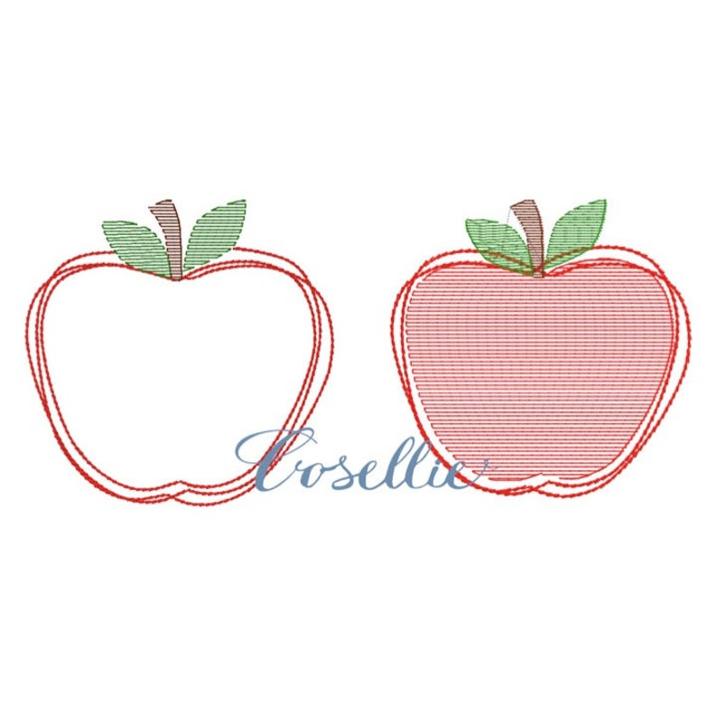 Apple Embroidery Design Mini Apple Embroidery File Vintage Etsy